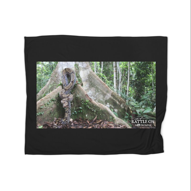 Peruvian Red-tailed Boa Home Fleece Blanket Blanket by Dav Kaufman's Swag Shop!