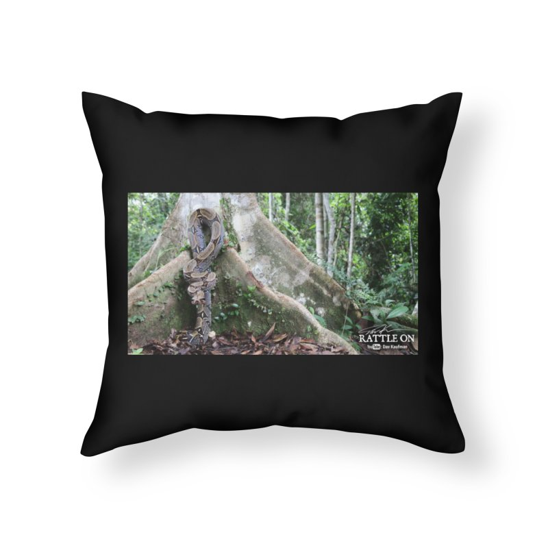 Peruvian Red-tailed Boa Home Throw Pillow by Dav Kaufman's Swag Shop!