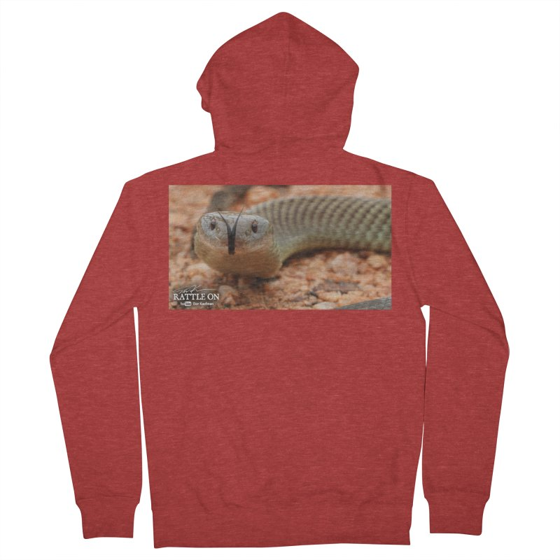 Mulga (King Brown Snake) Women's French Terry Zip-Up Hoody by Dav Kaufman's Swag Shop!