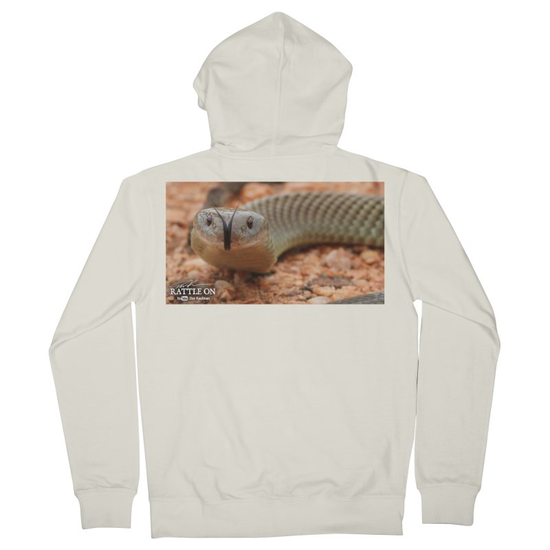 Mulga (King Brown Snake) Women's Zip-Up Hoody by Dav Kaufman's Swag Shop!