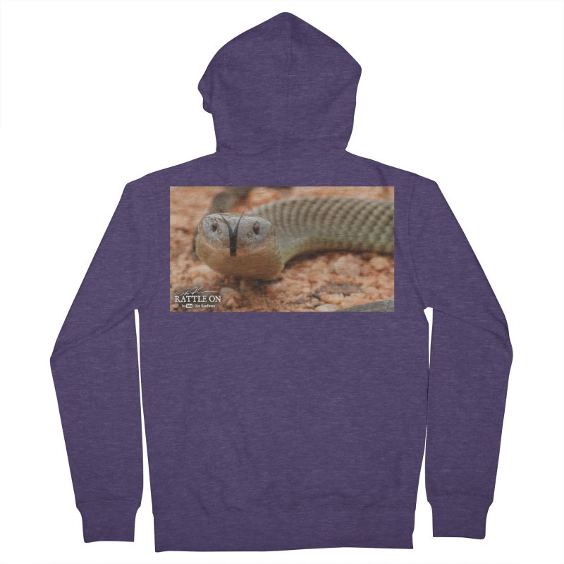 Mulga (King Brown Snake) Men's French Terry Zip-Up Hoody by Dav Kaufman's Swag Shop!
