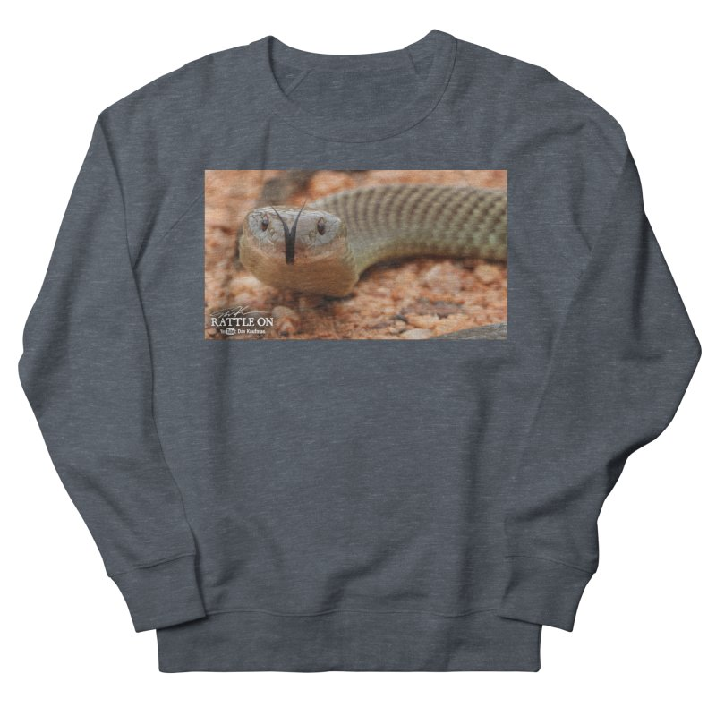 Mulga (King Brown Snake) Men's French Terry Sweatshirt by Dav Kaufman's Swag Shop!