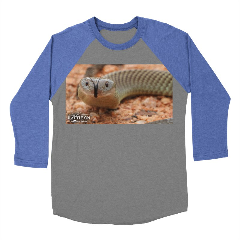 Mulga (King Brown Snake) Women's Baseball Triblend Longsleeve T-Shirt by Dav Kaufman's Swag Shop!