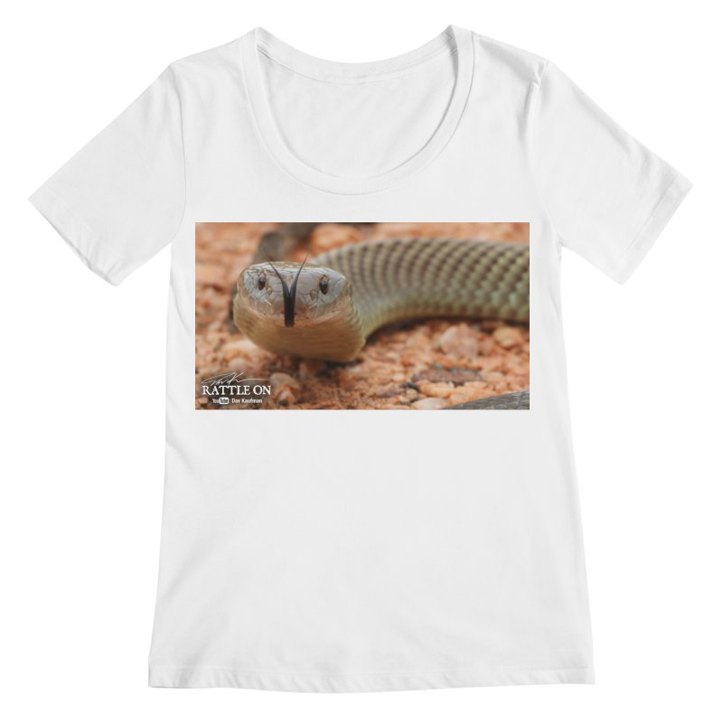 Mulga (King Brown Snake) Women's Regular Scoop Neck by Dav Kaufman's Swag Shop!