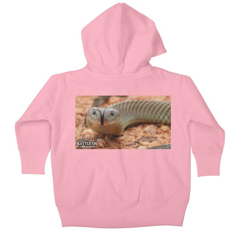Mulga (King Brown Snake) Kids Baby Zip-Up Hoody by Dav Kaufman's Swag Shop!