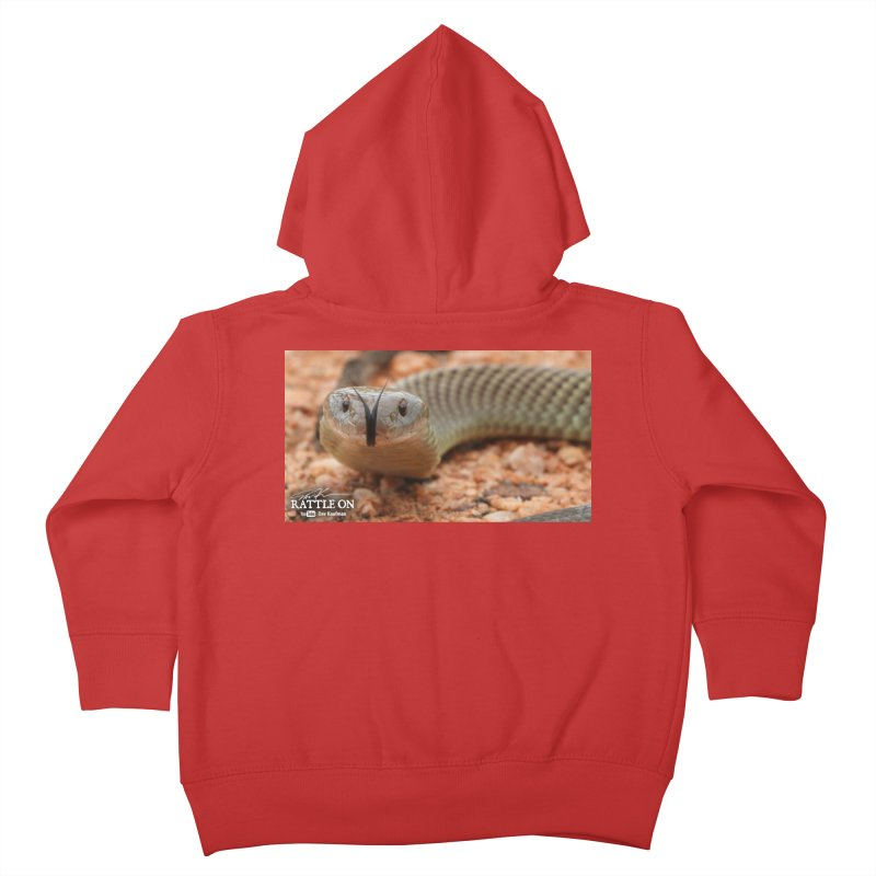 Mulga (King Brown Snake) Kids Toddler Zip-Up Hoody by Dav Kaufman's Swag Shop!