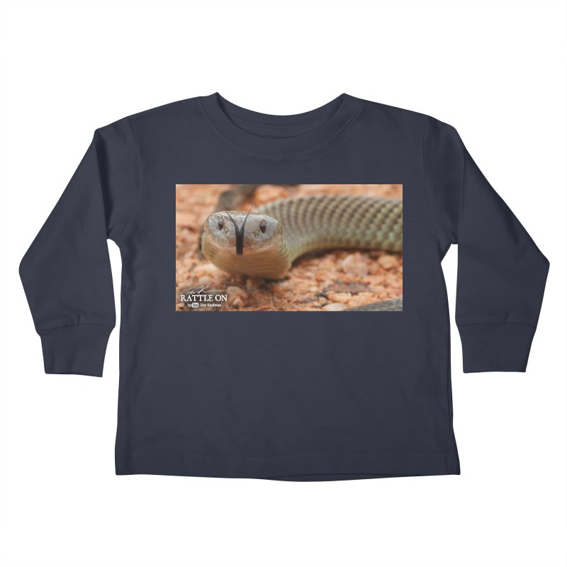 Mulga (King Brown Snake) Kids Toddler Longsleeve T-Shirt by Dav Kaufman's Swag Shop!