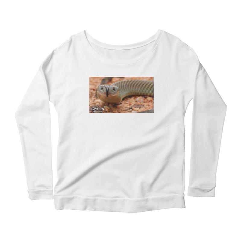 Mulga (King Brown Snake) Women's Scoop Neck Longsleeve T-Shirt by Dav Kaufman's Swag Shop!