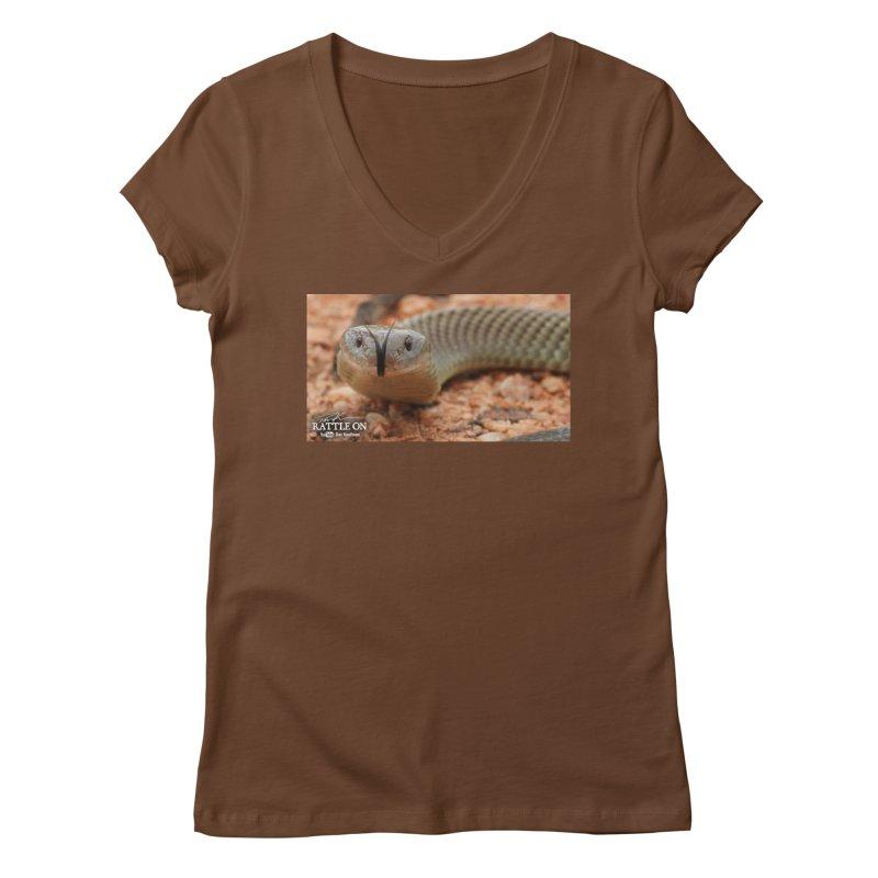 Mulga (King Brown Snake) Women's Regular V-Neck by Dav Kaufman's Swag Shop!