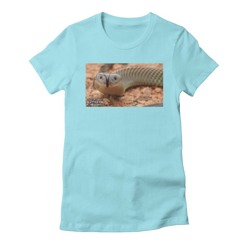 Mulga (King Brown Snake) Women's Fitted T-Shirt by Dav Kaufman's Swag Shop!