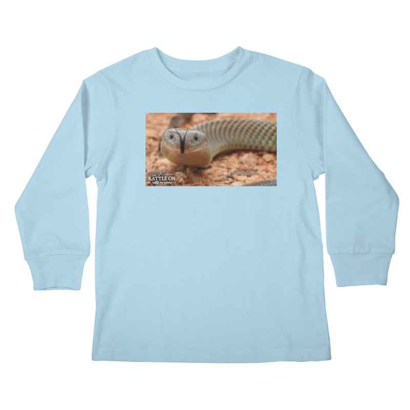 Mulga (King Brown Snake) Kids Longsleeve T-Shirt by Dav Kaufman's Swag Shop!