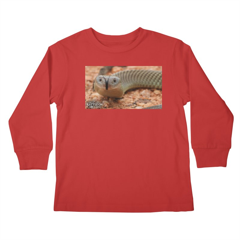 Mulga (King Brown Snake) Kids Longsleeve T-Shirt by Dav Kaufman's Swag Shop!