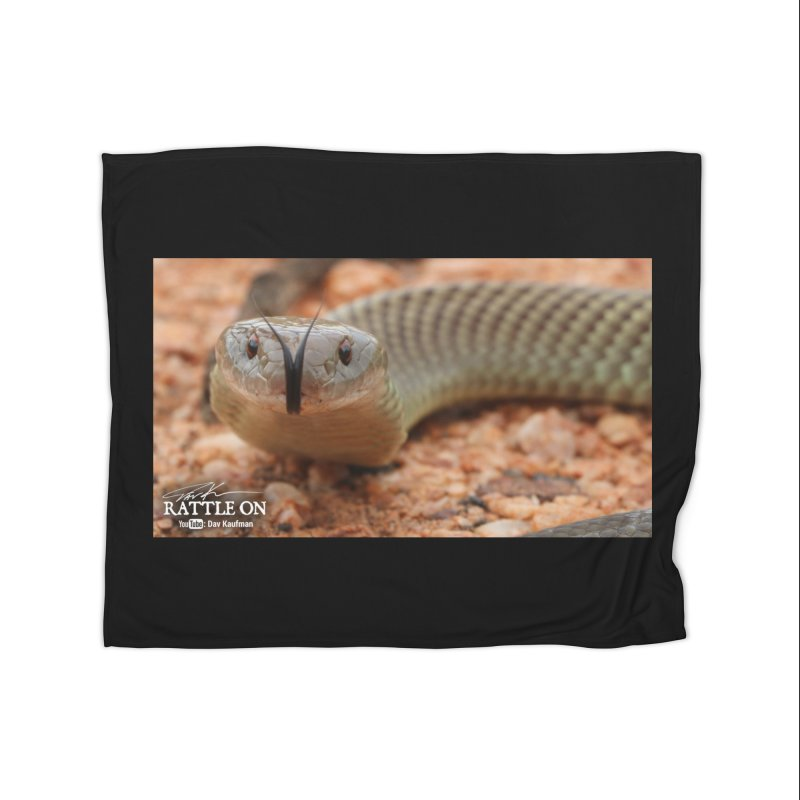 Mulga (King Brown Snake) Home Fleece Blanket Blanket by Dav Kaufman's Swag Shop!