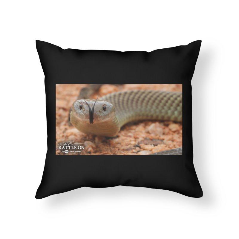 Mulga (King Brown Snake) Home Throw Pillow by Dav Kaufman's Swag Shop!