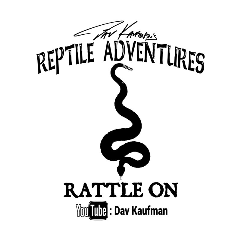 Dāv Kaufman's Reptile Adventures official logo in black Accessories Beach Towel by Dav Kaufman's Swag Shop!