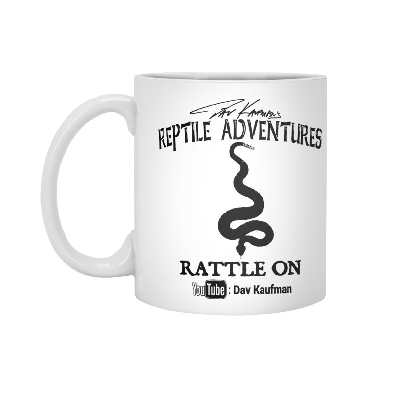 Dāv Kaufman's Reptile Adventures official logo in black Accessories Standard Mug by Dav Kaufman's Swag Shop!