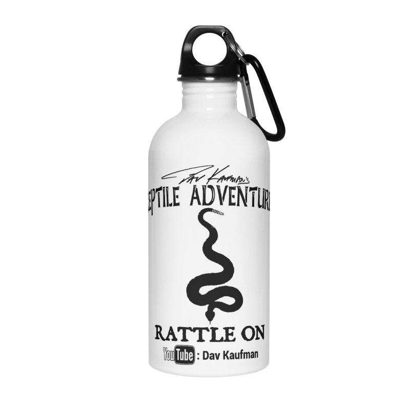 Dāv Kaufman's Reptile Adventures official logo in black Accessories Water Bottle by Dav Kaufman's Swag Shop!