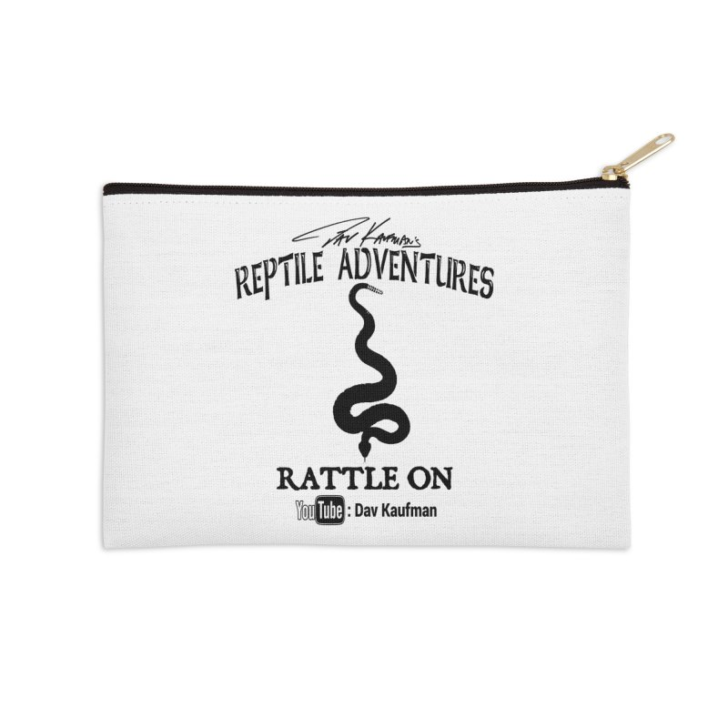 Dāv Kaufman's Reptile Adventures official logo in black Accessories Zip Pouch by Dav Kaufman's Swag Shop!