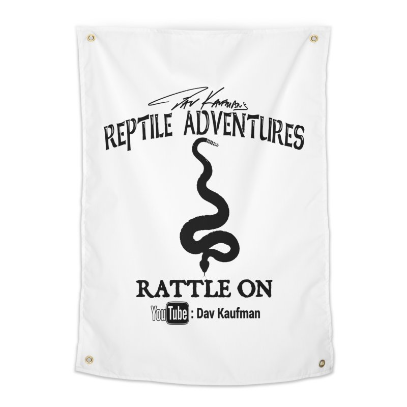 Dāv Kaufman's Reptile Adventures official logo in black Home Tapestry by Dav Kaufman's Swag Shop!