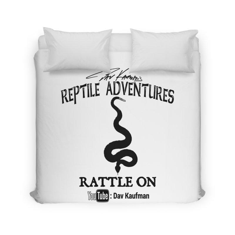 Dāv Kaufman's Reptile Adventures official logo in black Home Duvet by Dav Kaufman's Swag Shop!