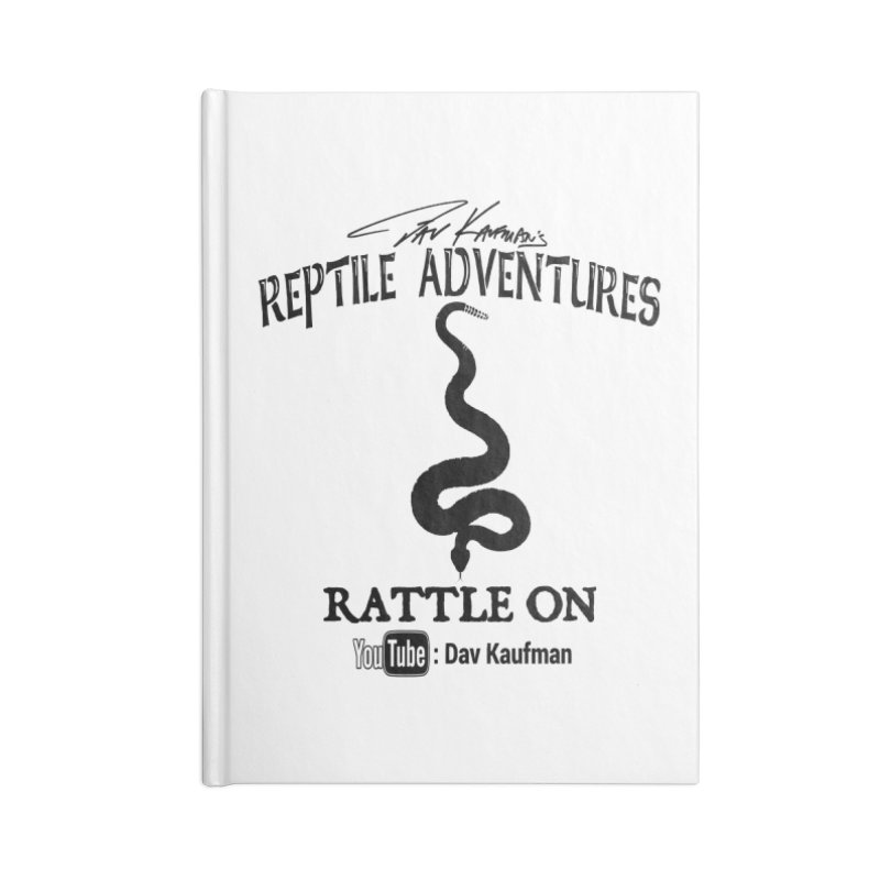 Dāv Kaufman's Reptile Adventures official logo in black Accessories Blank Journal Notebook by Dav Kaufman's Swag Shop!