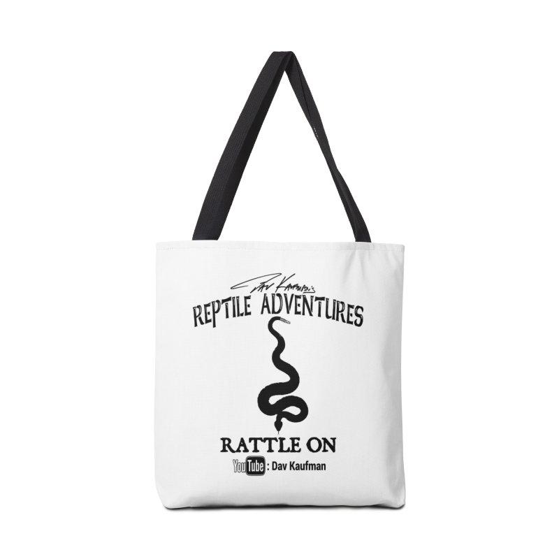 Dāv Kaufman's Reptile Adventures official logo in black Accessories Bag by Dav Kaufman's Swag Shop!