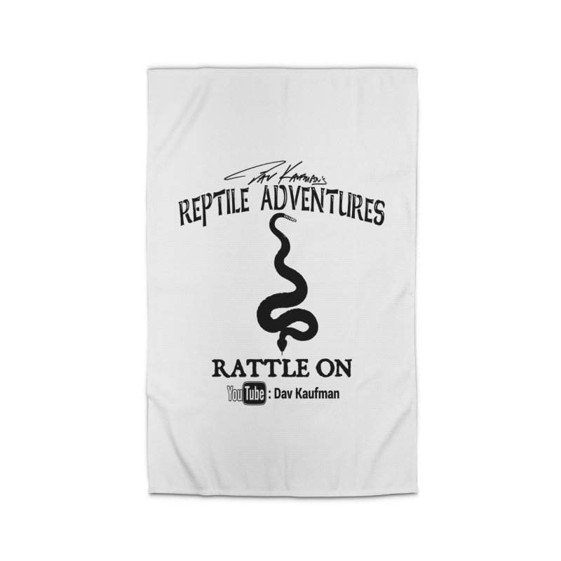 Dāv Kaufman's Reptile Adventures official logo in black Home Rug by Dav Kaufman's Swag Shop!