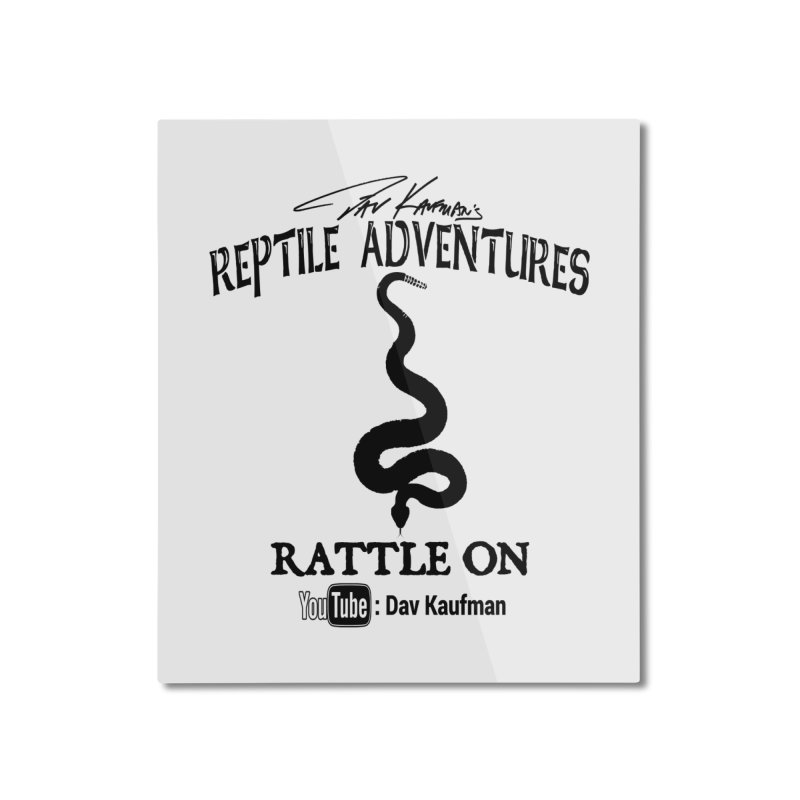 Dāv Kaufman's Reptile Adventures official logo in black Home Mounted Aluminum Print by Dav Kaufman's Swag Shop!