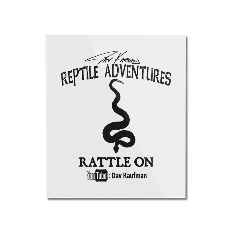 Dāv Kaufman's Reptile Adventures official logo in black Home Mounted Acrylic Print by Dav Kaufman's Swag Shop!