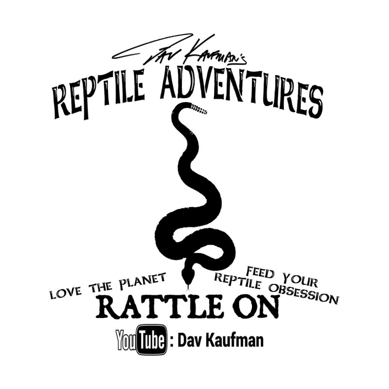 Dāv Kaufman's Reptile Adventures official logo (alt design) in black Men's T-Shirt by Dav Kaufman's Swag Shop!