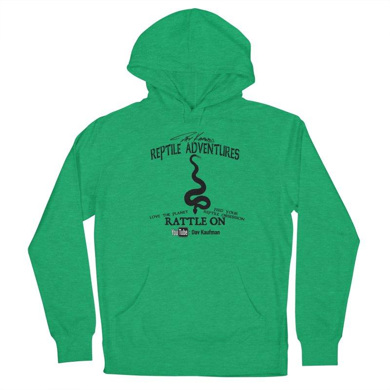 Dāv Kaufman's Reptile Adventures official logo (alt design) in black Women's Pullover Hoody by Dav Kaufman's Swag Shop!