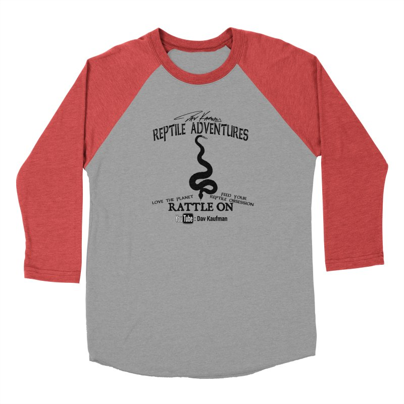Dāv Kaufman's Reptile Adventures official logo (alt design) in black Women's Longsleeve T-Shirt by Dav Kaufman's Swag Shop!