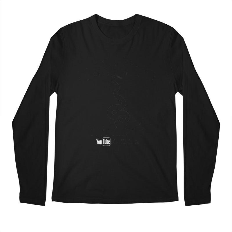 Dāv Kaufman's Reptile Adventures official logo (alt design) in black Men's Regular Longsleeve T-Shirt by Dav Kaufman's Swag Shop!