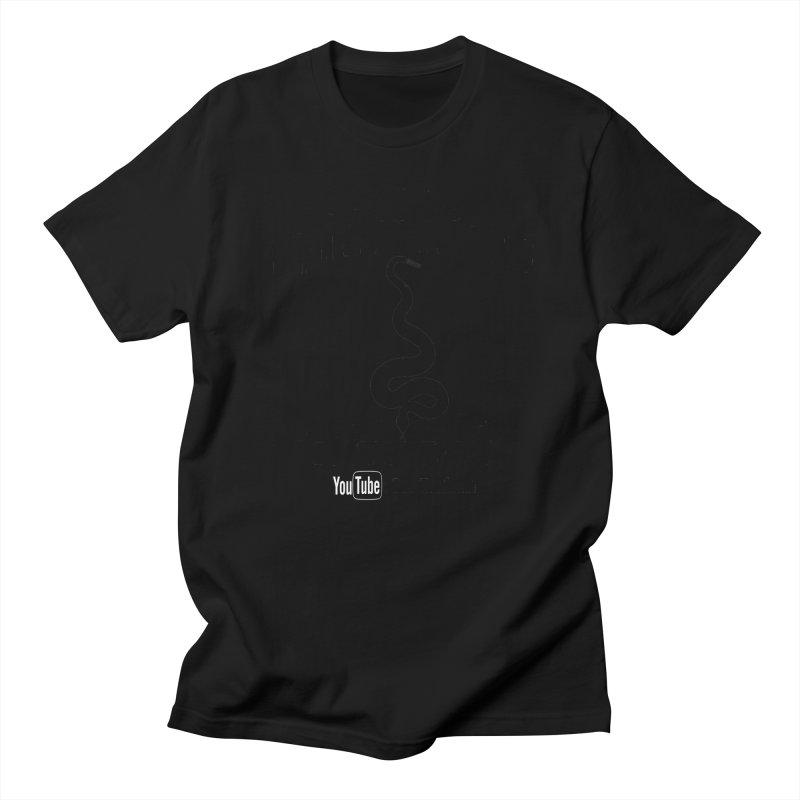 Dāv Kaufman's Reptile Adventures official logo (alt design) in black Men's Regular T-Shirt by Dav Kaufman's Swag Shop!