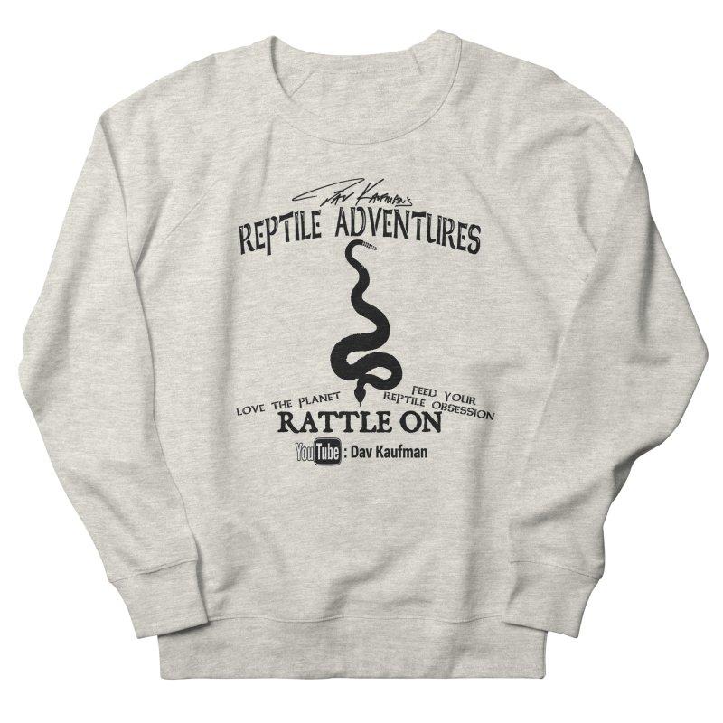Dāv Kaufman's Reptile Adventures official logo (alt design) in black Women's French Terry Sweatshirt by Dav Kaufman's Swag Shop!