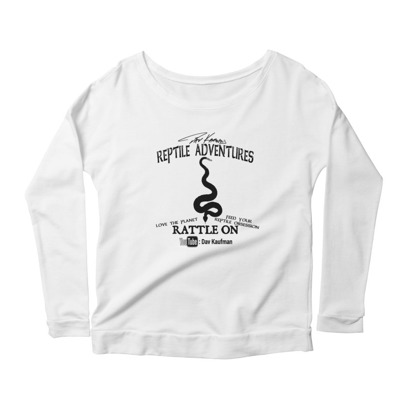 Dāv Kaufman's Reptile Adventures official logo (alt design) in black Women's Scoop Neck Longsleeve T-Shirt by Dav Kaufman's Swag Shop!