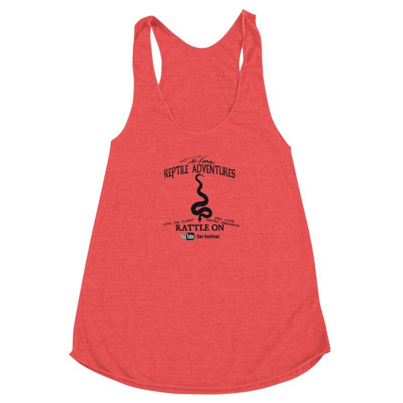 Dāv Kaufman's Reptile Adventures official logo (alt design) in black Women's Tank by Dav Kaufman's Swag Shop!