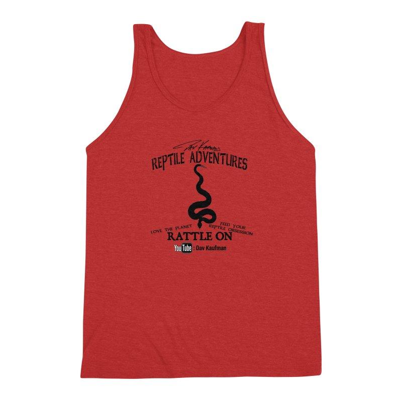 Dāv Kaufman's Reptile Adventures official logo (alt design) in black Men's Triblend Tank by Dav Kaufman's Swag Shop!