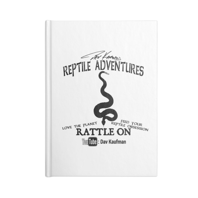 Dāv Kaufman's Reptile Adventures official logo (alt design) in black Accessories Notebook by Dav Kaufman's Swag Shop!