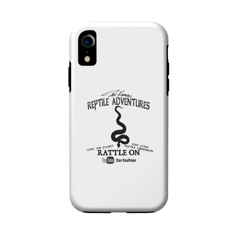 Dāv Kaufman's Reptile Adventures official logo (alt design) in black Accessories Phone Case by Dav Kaufman's Swag Shop!