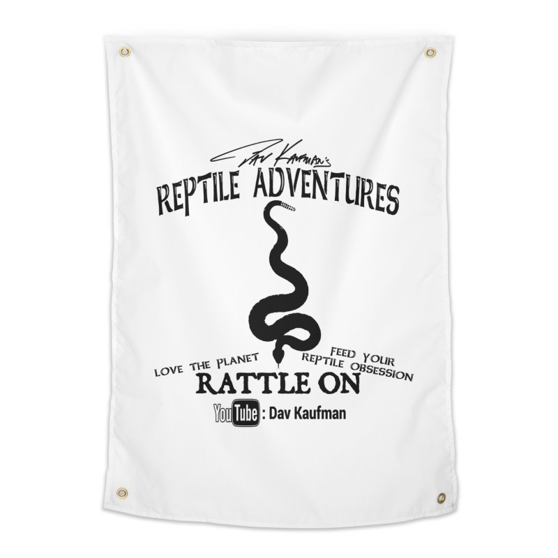 Dāv Kaufman's Reptile Adventures official logo (alt design) in black Home Tapestry by Dav Kaufman's Swag Shop!