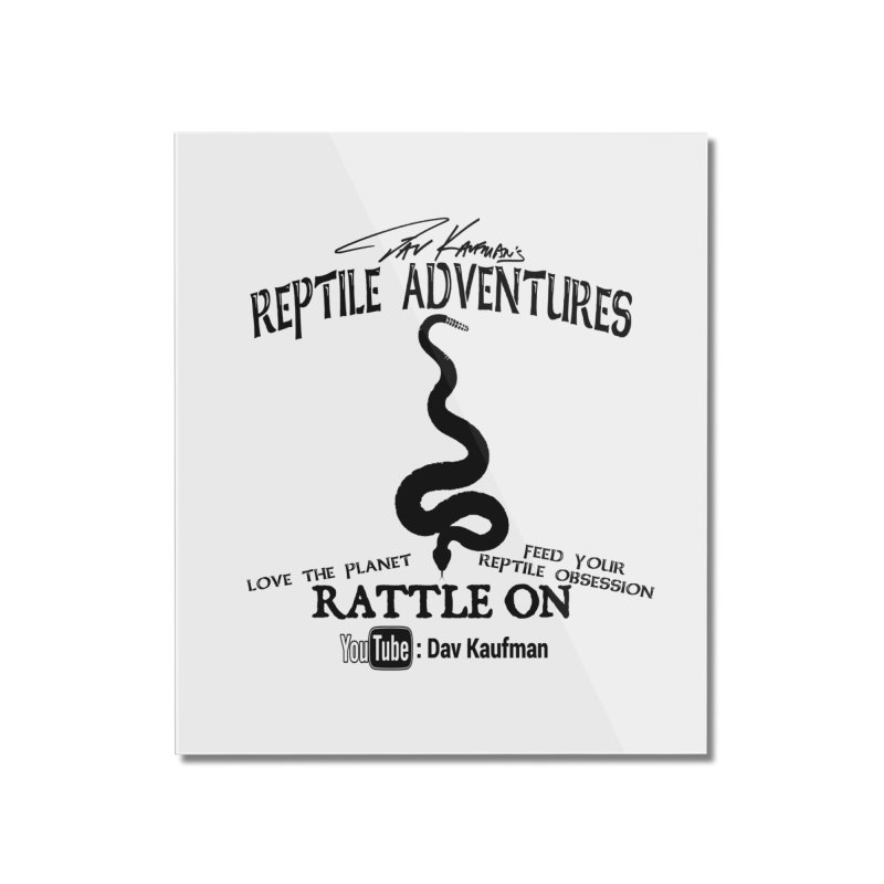 Dāv Kaufman's Reptile Adventures official logo (alt design) in black Home Mounted Acrylic Print by Dav Kaufman's Swag Shop!