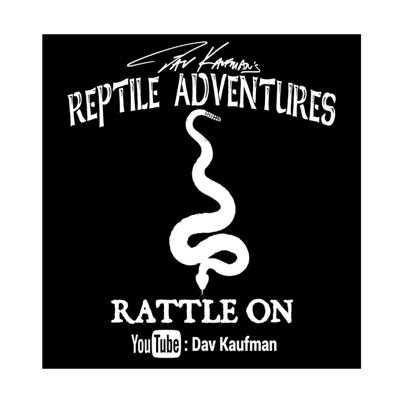 Dāv Kaufman's Reptile Adventures official logo in white Home Mounted Aluminum Print by Dav Kaufman's Swag Shop!
