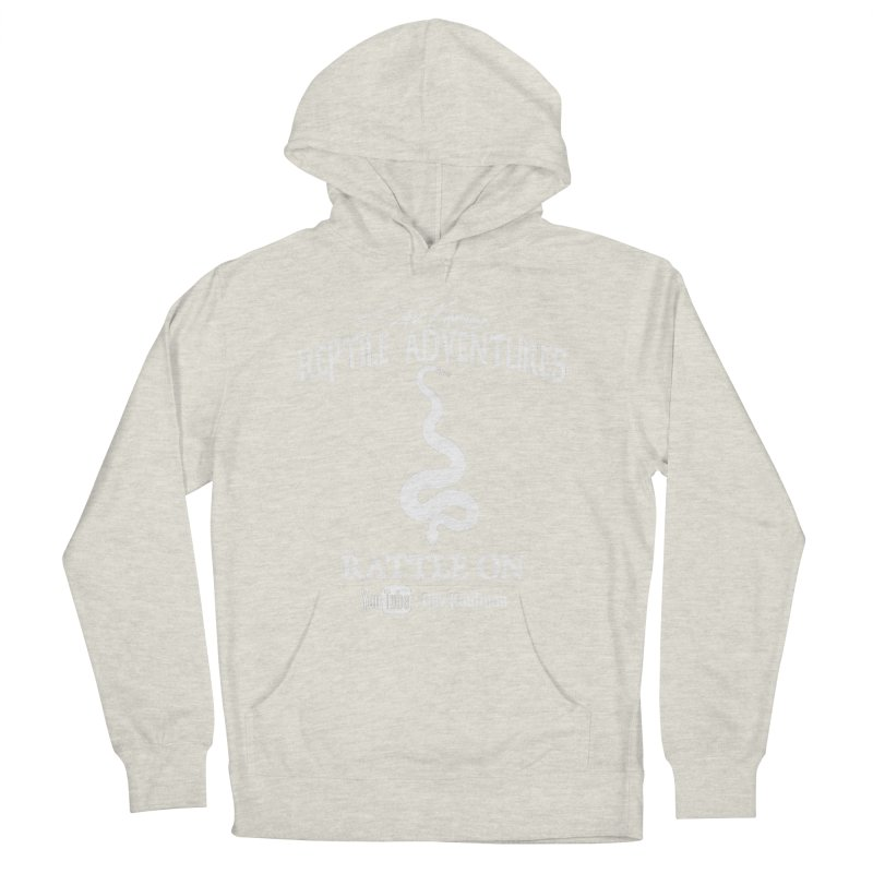 Dāv Kaufman's Reptile Adventures official logo in white Men's French Terry Pullover Hoody by Dav Kaufman's Swag Shop!