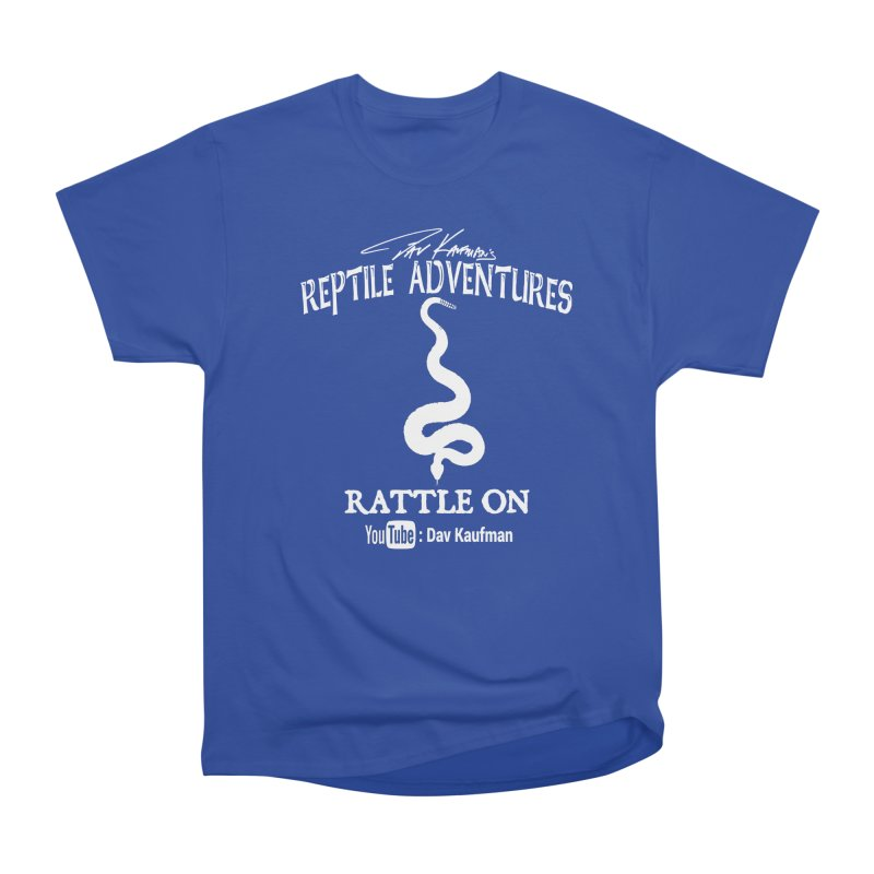 Dāv Kaufman's Reptile Adventures official logo in white Women's Heavyweight Unisex T-Shirt by Dav Kaufman's Swag Shop!