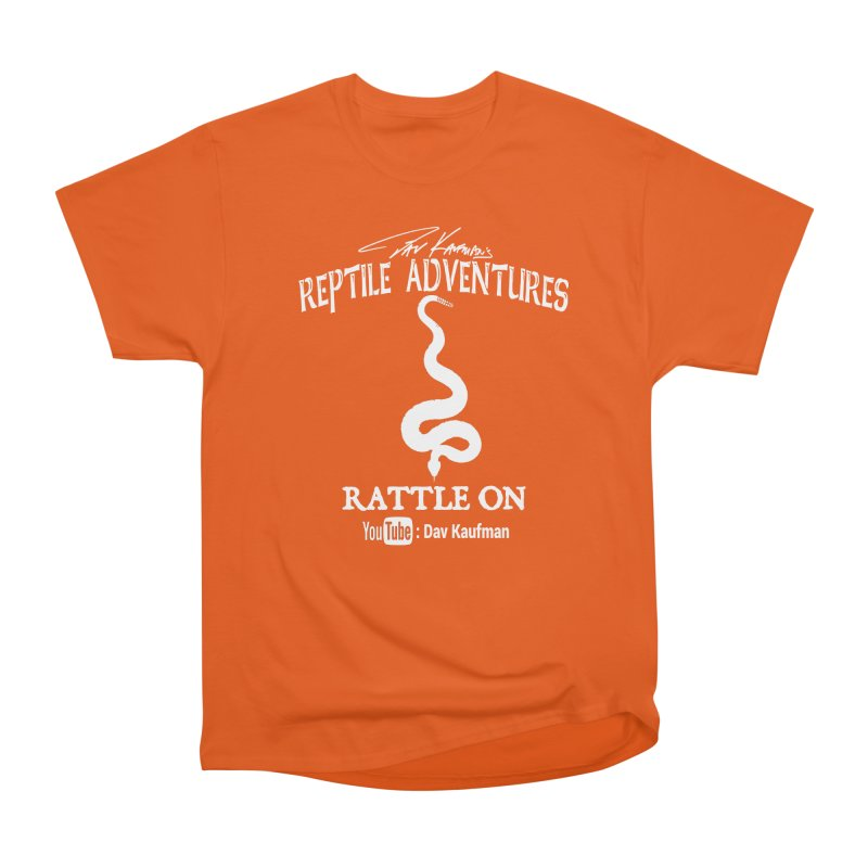 Dāv Kaufman's Reptile Adventures official logo in white Women's T-Shirt by Dav Kaufman's Swag Shop!