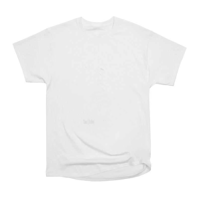Dāv Kaufman's Reptile Adventures official logo in white Women's Heavyweight Unisex T-Shirt by Dav Kaufman's Swag Shop!
