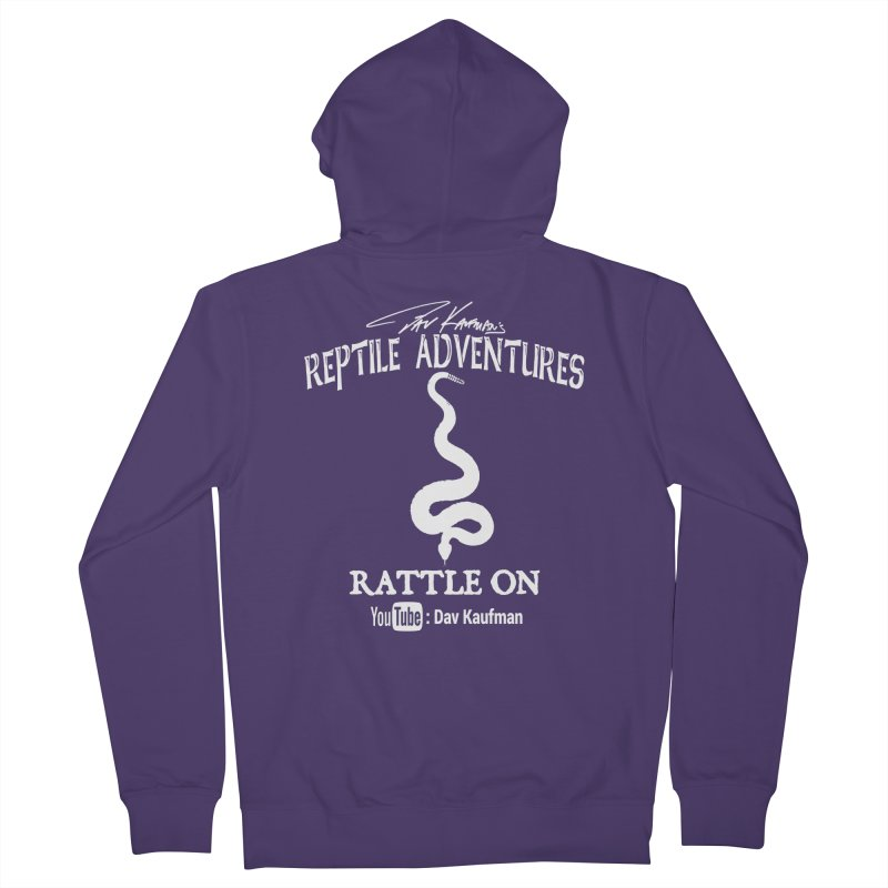 Dāv Kaufman's Reptile Adventures official logo in white Women's Zip-Up Hoody by Dav Kaufman's Swag Shop!