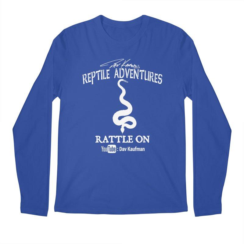Dāv Kaufman's Reptile Adventures official logo in white Men's Regular Longsleeve T-Shirt by Dav Kaufman's Swag Shop!