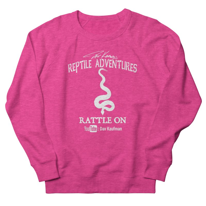 Dāv Kaufman's Reptile Adventures official logo in white Women's French Terry Sweatshirt by Dav Kaufman's Swag Shop!